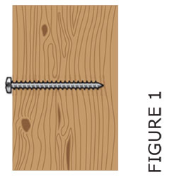 Drywall or plaster with available wood stud